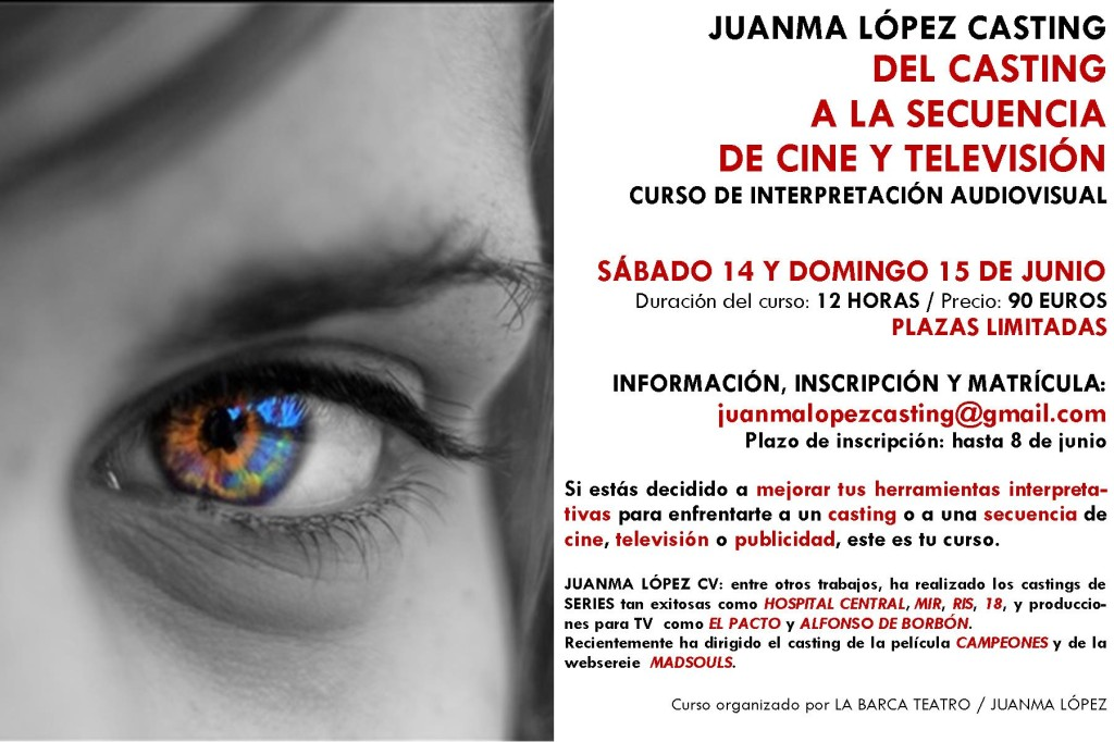 Flyer Curso Interpretación Audiovisual_Juanma López 2