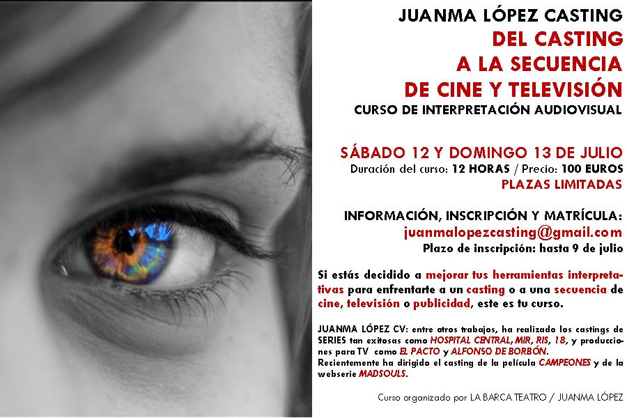 Flyer Curso Interpretación Audiovisual_Juanma López JULIO